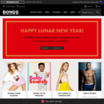 $10 off $60, $15 off $70, $20 off $80 or Sitewide 10% to 30% Discounts (Excl. Sale Items) @ Bonds