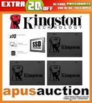 Kingston A400 SSD 120GB $29.56, 240GB $42.36, 480GB $79.16, 960GB $191.16 + Delivery (Free with eBay Plus) @ Apus Auctions eBay