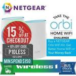 NetGear Orbi AC3000 Tri-Band Wi-Fi RBK50 - $380.97 Delivered @ Wireless 1 eBay