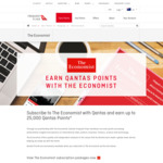 Earn Up to 25,000 Bonus Qantas Points When You Subscribe to The Economist for 1 or 3 Years ($475 ~ $1655)