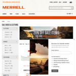 Merrell Take a Further 20% off Already Reduced Sale Items. Free Shipping on $150 Spend