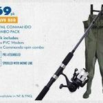 BCF Father's Day Fishing Sale - Waders Plus Rod & Reel Combo for $69