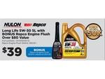 Nulon Full Synthetic Engine Oil 5W-30 5L + Free Repco 300ml Oil Flush $39 @ Repco