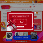 US $2 off US $15 Spend @ AliExpress