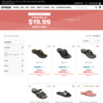 Flips, Clogs, and More Starting at $19.99 + Free Delivery @ Crocs