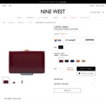 Large Ismay Collection Clutch $20 (Was $89.95) + Delivery @ Nine West