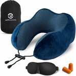 Earth Essentials Memory Foam Travel Pillow + Accessories $12.98 (50% off) Delivered ($0 with Prime/ $39 Spend) @ AMAZON AU