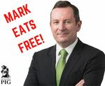[WA] Mark Eats Free with Purchase of a Meal @ The Swinging Pig, Leisure Inn