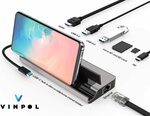 VINPOL USB C HUB 8-in-1 $31.99 + Delivery ($0 with Prime/ $39 Spend) @ Vinpol  Amazon AU