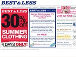 30% off* Summer Clothing at Best & Less