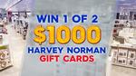 Win 1 of 2 $1,000 Harvey Norman Vouchers from Nine Network