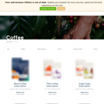 [NSW] 20% off Coffee + Delivery (Free over $60) @ Five Senses Coffee