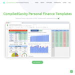 Personal Finance Tracker Spread Sheet $6 (Was $8) @ CompiledSanity Personal Finance