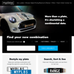 [NSW] 20% off RMS Number Plates @ MyPlates