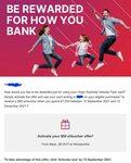 Virgin Australia Velocity Flyer Card: $50 eVoucher with $1000 Spend between 15/9 and 15/12 @ Virgin Money