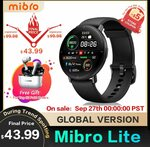 Mibro Lite Smartwatch & Fitness Band w/ Heart Rate Monitor US$43.99 (~A$60) Delivered @ SIMSON Store AliExpress