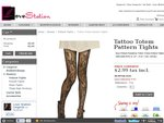 Crazy Sales! Women's Fishnet Pantyhose Tattoo Totem Pattern Tights $2.99 Only + Shipping