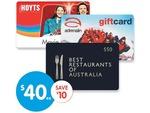 $50 Best Restaurants Gift Card for $40 (also Hoyts & Adrenalin, Save $10) @ Big W until Next Wed
