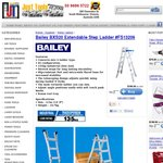 Bailey BXS20 Extendable Ladder from Just Tools for $199 Instore or $213 Delivered (VIC)
