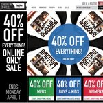 40% off Everything at Mossimo! Easter Sale! Online Only! Ends April 1st