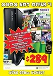 Xbox 360 250GB Kinect Console Bundle (5 Games & HDMI) $290 Delivered @ JB