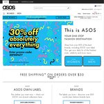 ASOS 30% off Everything 24 Hours