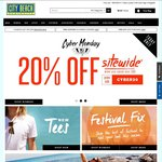 20% off City Beach Online (Coupon) - Min Spend $90