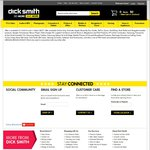 $10 off $49+, $30 off $149+, $60 off $499 + and $100 off $999+ @ Dick Smith