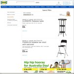 [SA] IKEA Foldable Bar Stool with Backrest $29.95, Normal Price $39.95