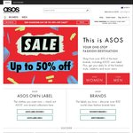 Up to 50% off Sale @ ASOS + Free Shipping on Orders over $40