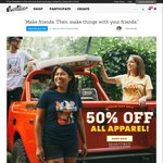 50% off All Apparel @ Threadless (Plus Get $10USD off for Orders over $75USD)