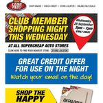 FREE $5 Credit to Spend on Shopping Night Wed 28th September for Club Plus Members @ SCA