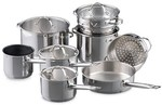 25% off Baccarat 9 Piece Stainless Steel Cookset Now $209.99 + Delivered for Free @ House Online