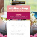 Win A Bedroom Makeover & Adelaide Hills Weekend Escape Worth $3450 from Classic Timber Furniture
