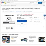 Xbox One S 500GB Console w/ Battlefield 1 $265.05 Delivered @ Target eBay