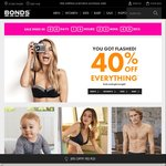 Bonds Flash Sale 40% off All Full-Price Items Free Shipping
