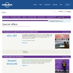 45% off All Lonely Planet Print and eBooks