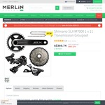 Shimano SLX M7000 1 x 11 Transmission Groupset for MTBs - $328.73 (normally $386) Free Shipping  from Merlin Cycles