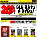 20% off Blu-Ray & DVDs @ JB Hi-Fi