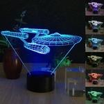 Creative 3D Spaceship Shape 7-Color LED Night Light USB Desk Lamp US $9.99 (AU $12.92) Delivered @Tmart