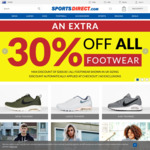 Extra 30% off All Shoes at Sports Direct