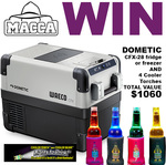 Win a Dometic Fridge and 4 Cooler Torches from Macca Worth $1060