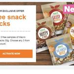 Receive 3 Free Samples of Macro Snack Packs 30g. Choose Any 3 from The 8 Flavours @Woolworths Rewards