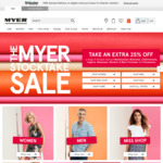 TAKE an Extra 30% off a Range of Already Reduced Menswear, Womenswear, Kidswear, Footwear, Sleepwear & Homewares @ Myer