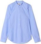 Marcs Battis Long Sleeve Sky Blue Shirt Regular Fit With Grandpa Collar 66% Off - Was $119.95, Now $41.30