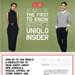 $10 off $50+ Spend Online Code with e-Newsletter Subscription @ UNIQLO