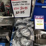 [Jaycar] HDMI V2.0 Cable, 1.5m Length $4.95ea