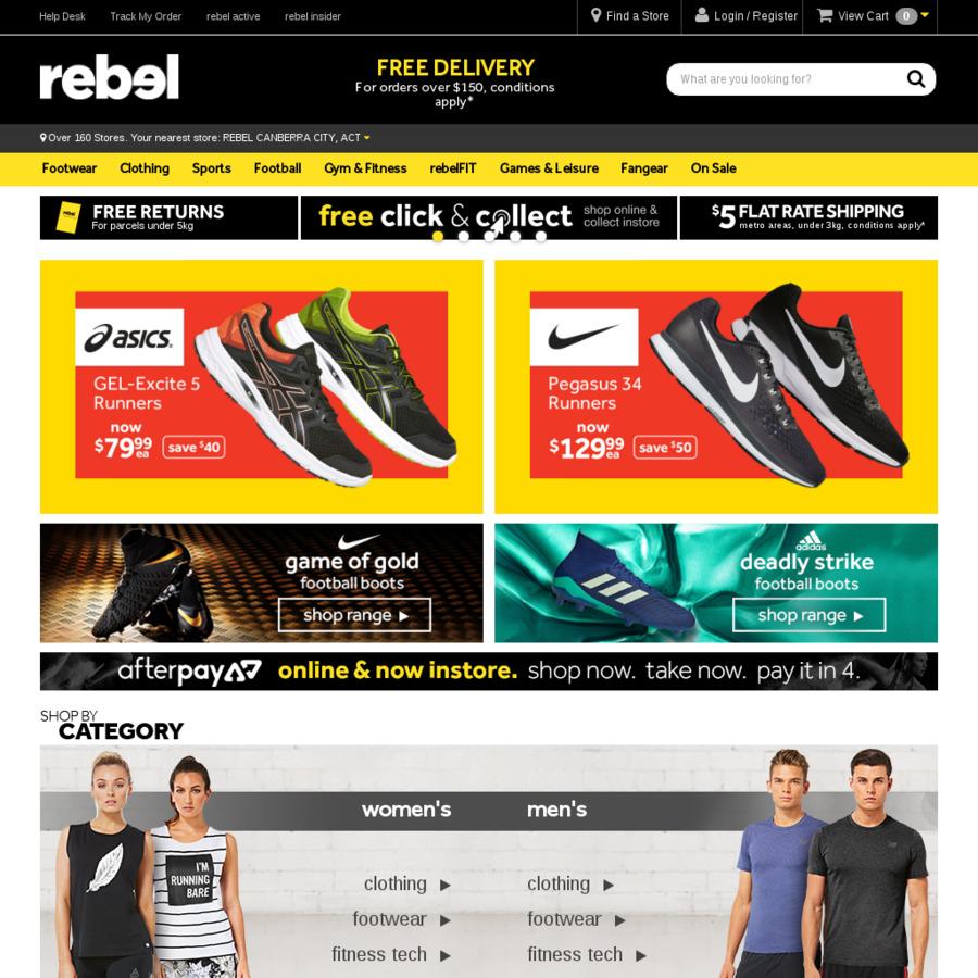 20% off Storewide   Rebel Sport (Online   In-Store) - OzBargain 928b052ba