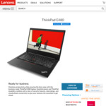 "ThinkPad E480 $1075 (14"" FHD, i7-8550U, 8GB/256GB, RX 550) $799 (i5-8250U, 8GB/128GB, Silver) from Lenovo"