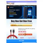 2 x BlitzWolf Ampcore BW-MF8 1.8m Lightning Cables US$9.99 (~AU$13.72) Delivered @ Banggood (50pcs only)